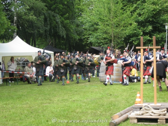 Geballte Pipe Band-Power